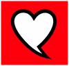 Profile logo coeur coul. blanc