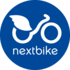 Medium nextbike logo kreis wei  auf blau