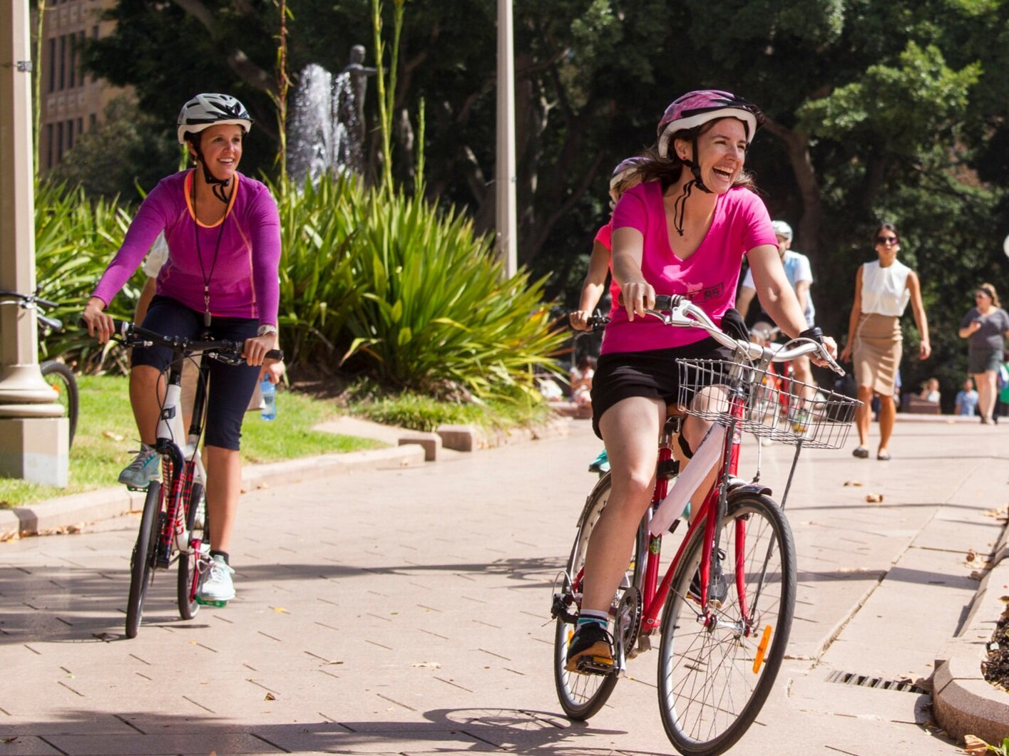 Two women riding