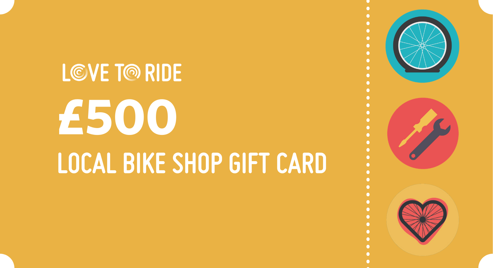 Love to Ride £500 local bike shop gift card
