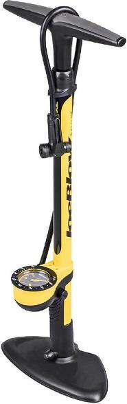 Yellow bike tire pump