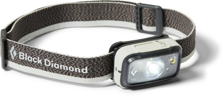 Gray headlamp with rectangular light on the front