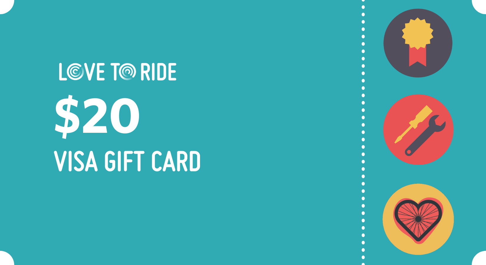 graphic of a $20 visa gift card