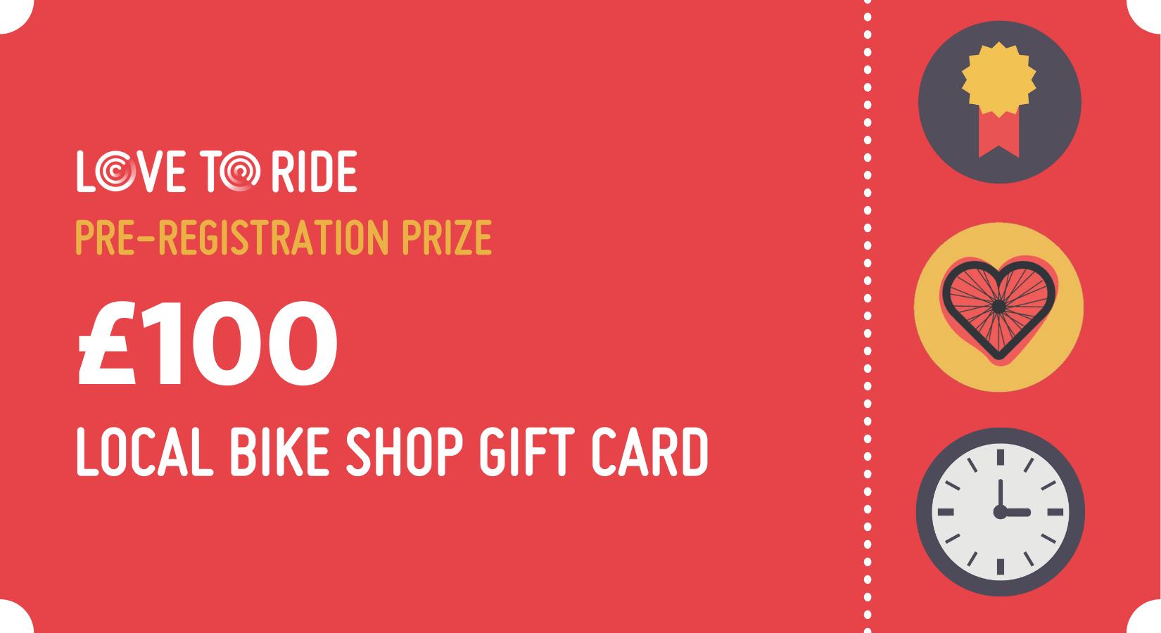 £100 prize voucher