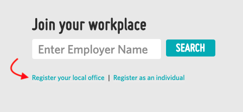 A screenshot highlighting the 'register your local office' link