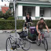 Primary bike on bike cart