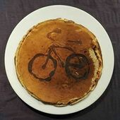 Primary hot cake bike pancake ride