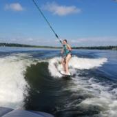 Primary wake surfing